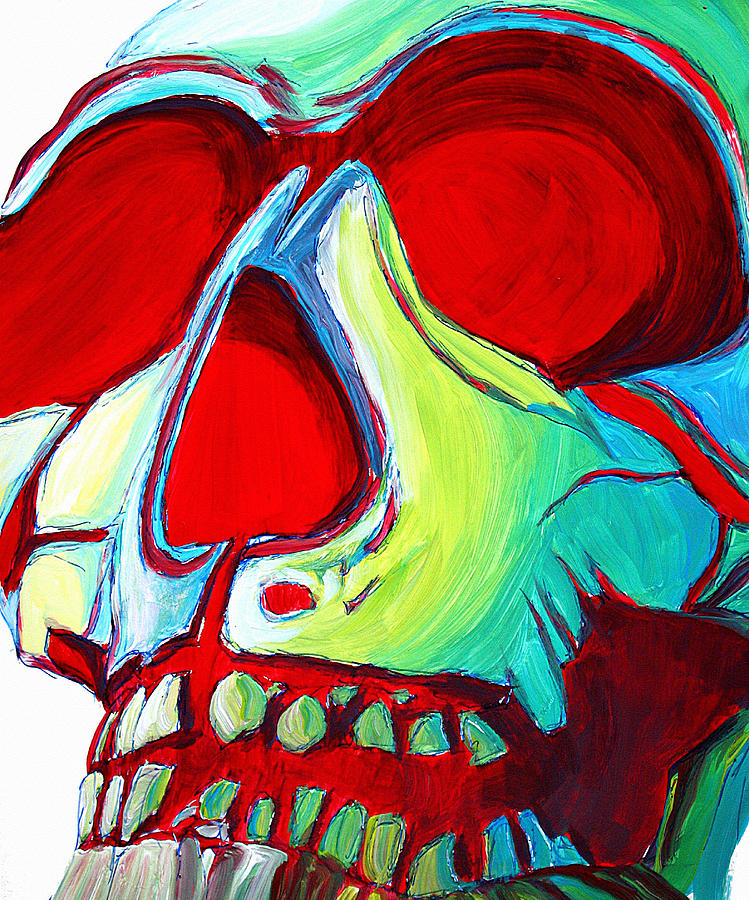 Abstract Painting - Skull Original Madart Painting by Megan Duncanson