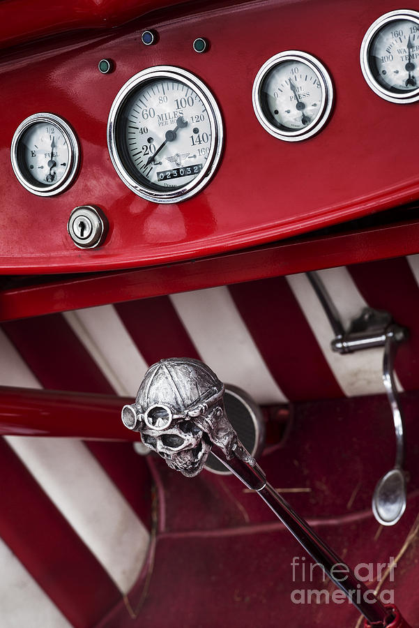 Ford Photograph - Skull Shifter by Tim Gainey