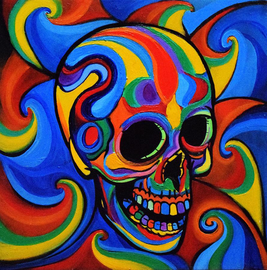 Красочная картинка череп