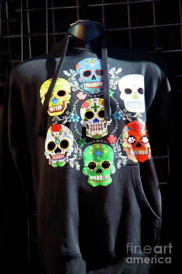 Dia De Los Muertos Photograph - Skull T Shirts Day Of The Dead  by Chuck Kuhn