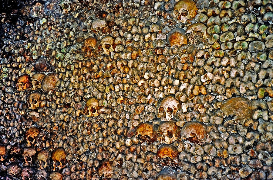 Skulls Photograph - Skulls and Bones under Paris by Juergen Weiss