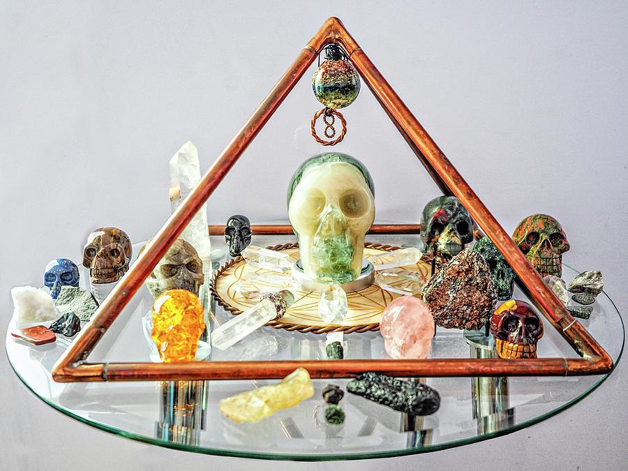 Skully And The Crystal Skulls Pyramid Grid Photograph
