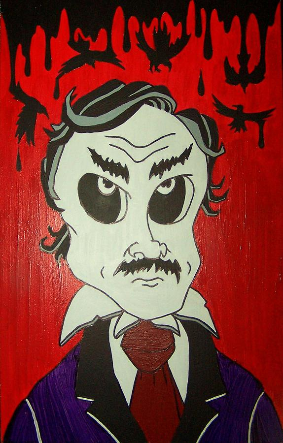 Edgar Painting - Skully Poe by Chris  Fifty-one
