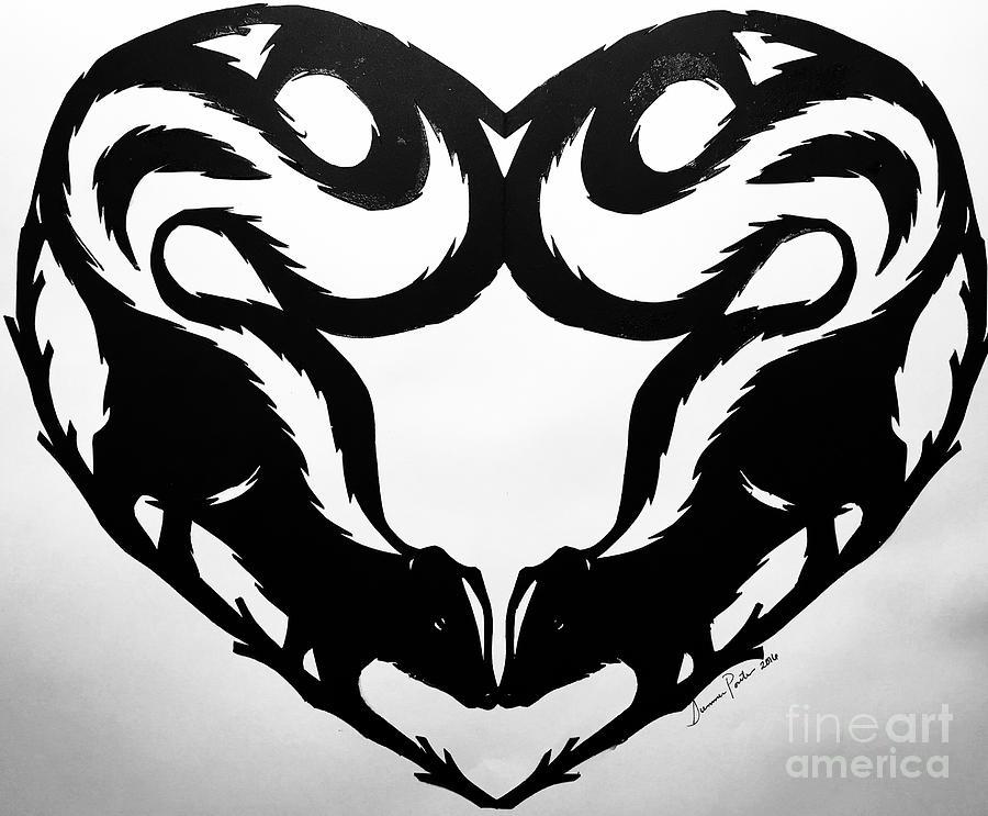 Skunk End Schnitte Drawing By Summer Porter