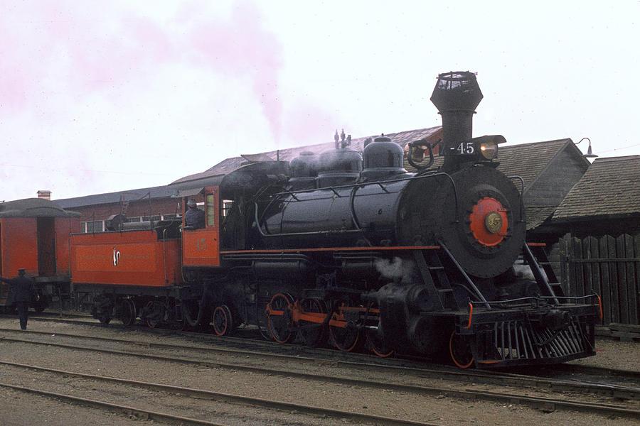 Steam Photograph - Skunk Train No 45 Fort Bragg California by Brian Lockett