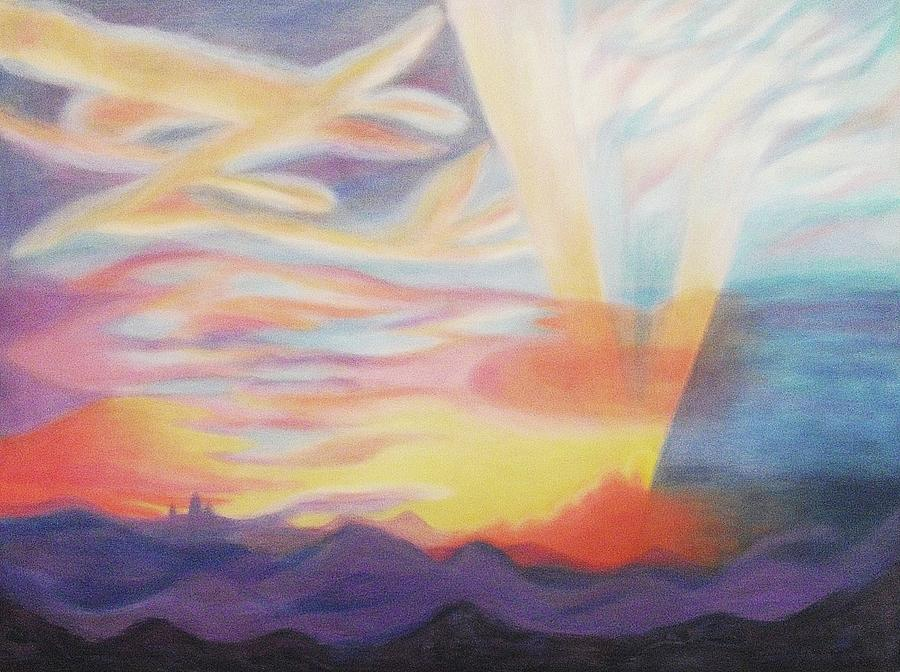 Sky Painting - Sky Ablaze by Suzanne  Marie Leclair