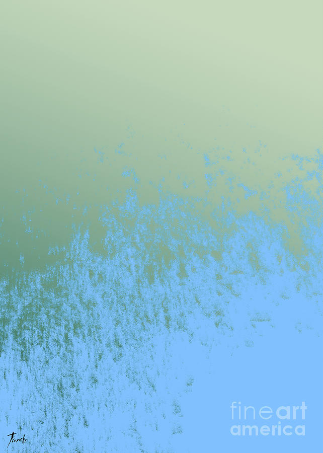 Abstract Yellow Painting - Sky And Green by Drawspots Illustrations