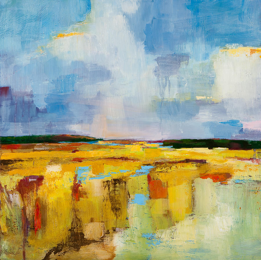 Landscape Painting - Sky and Marsh by Michele Norris