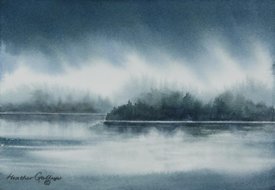 Landscape Painting - Sky and Shore by Heather Gallup