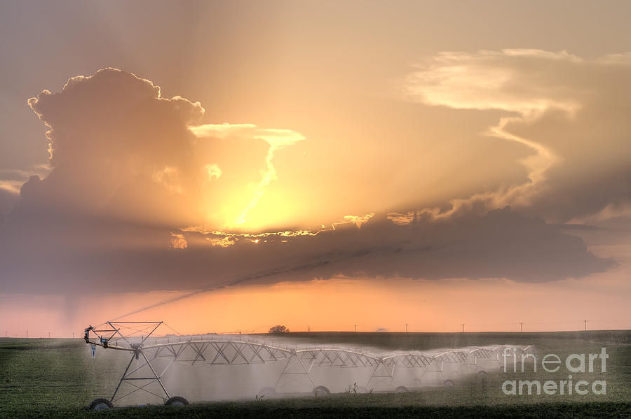 Prairie Sunset Photograph - Sky And Water by Art Whitton