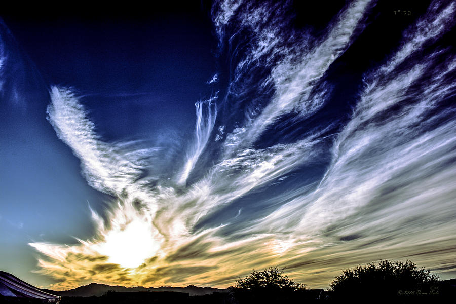 Sky Artistry Over Chandler Arizona by Brian Tada