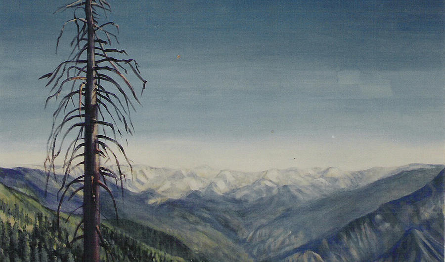 Sequoia National Park Painting - Sky blue by Howard Stroman