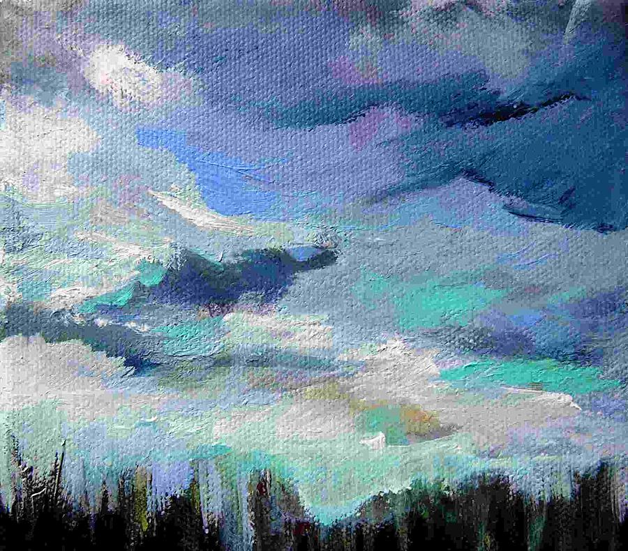 Landscape Painting - Sky Blue by Shirley Fearn