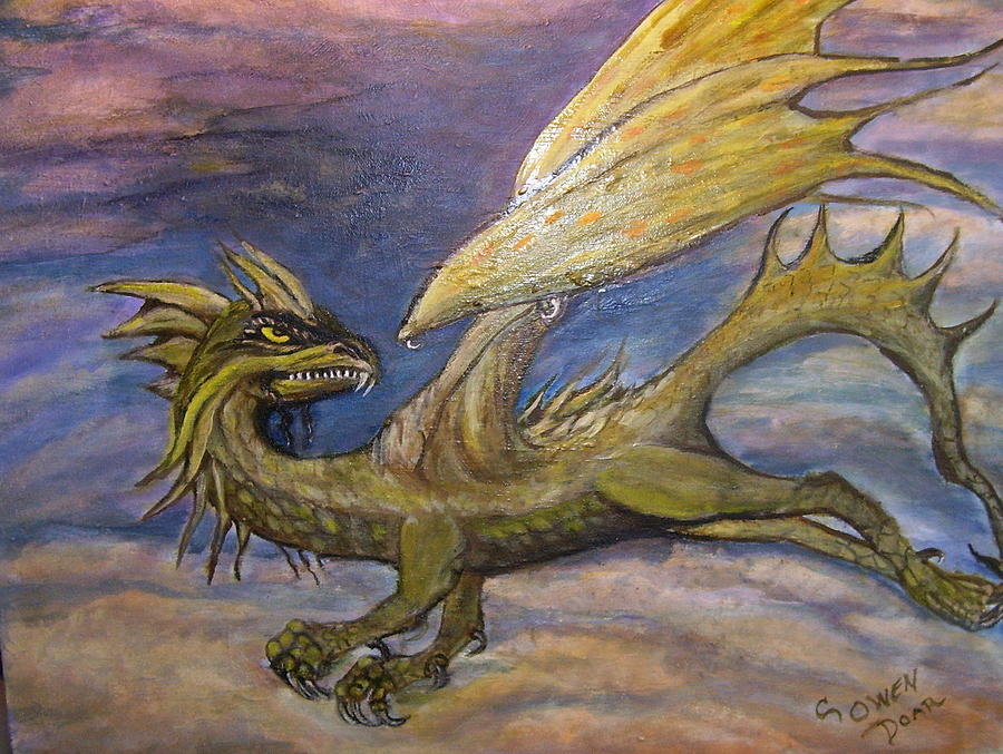 Dragons Painting - Sky Cruiser by Caroline Owen-Doar