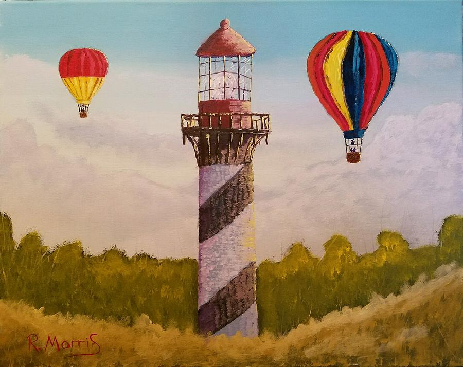 Landscape Painting - Sky High by Robert A Morris