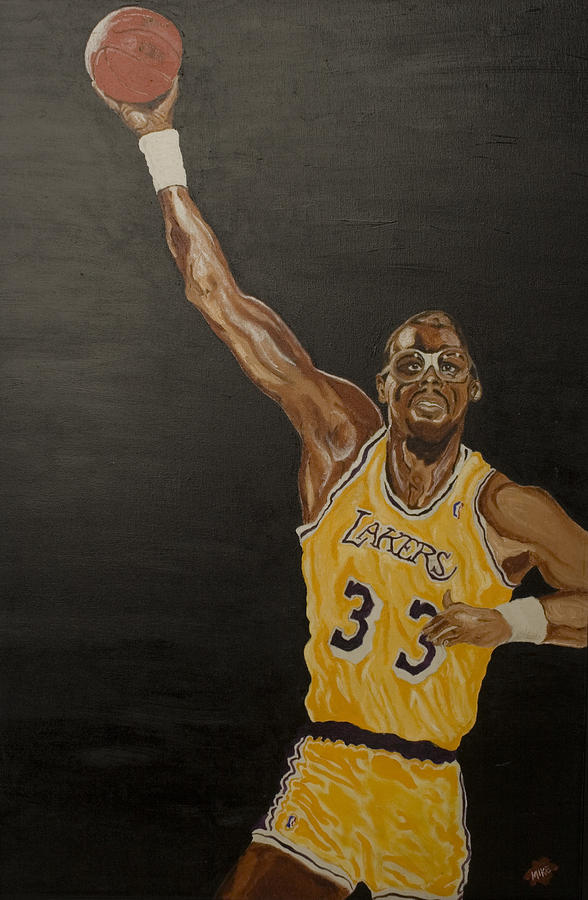 Sports Painting - Sky Hook by Michael Fields