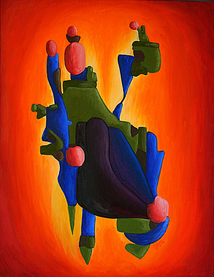Abstract Painting - Sky Island by Michael C Crane