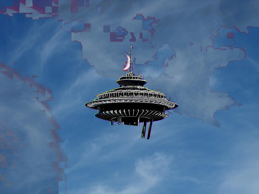 Seattle Photograph - Sky Needle by Tim Allen
