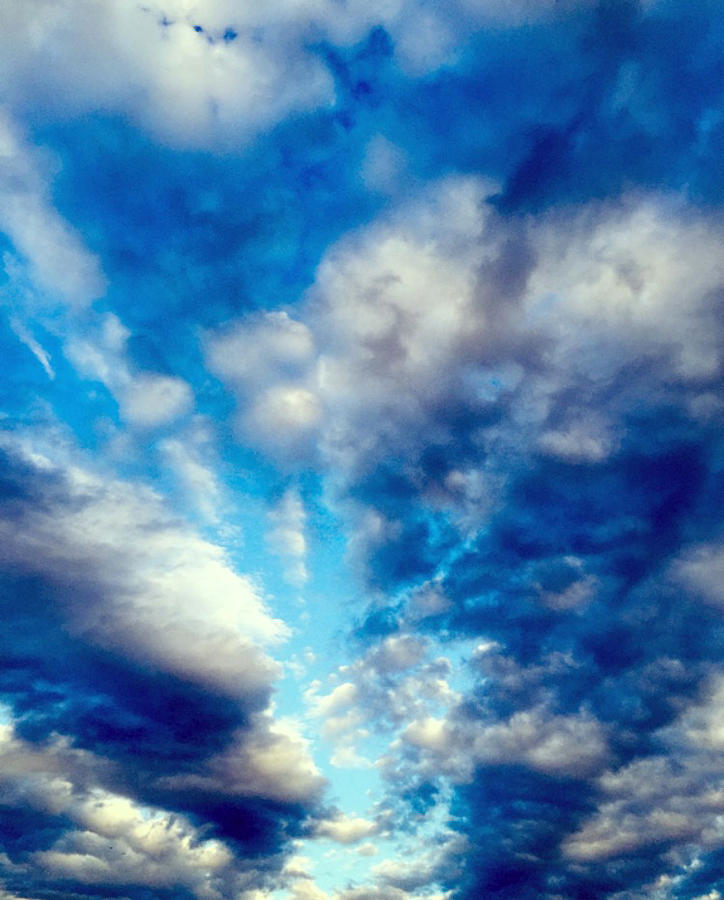 Sky Blue Photograph - sky by Niki Mastromonaco
