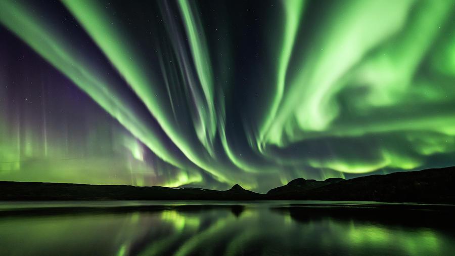 Aurora Photograph - Sky on fire by Kolbein Svensson