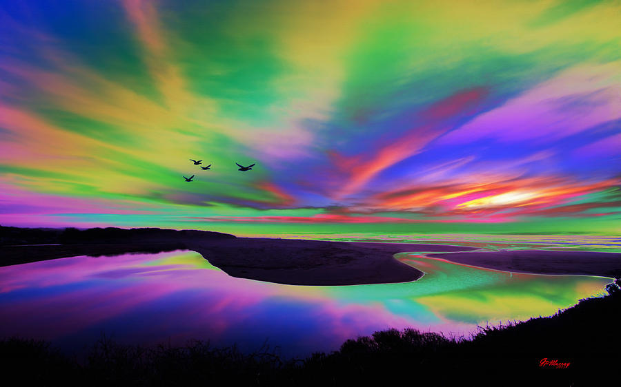 Water Digital Art - Sky Rays by Gregory Murray