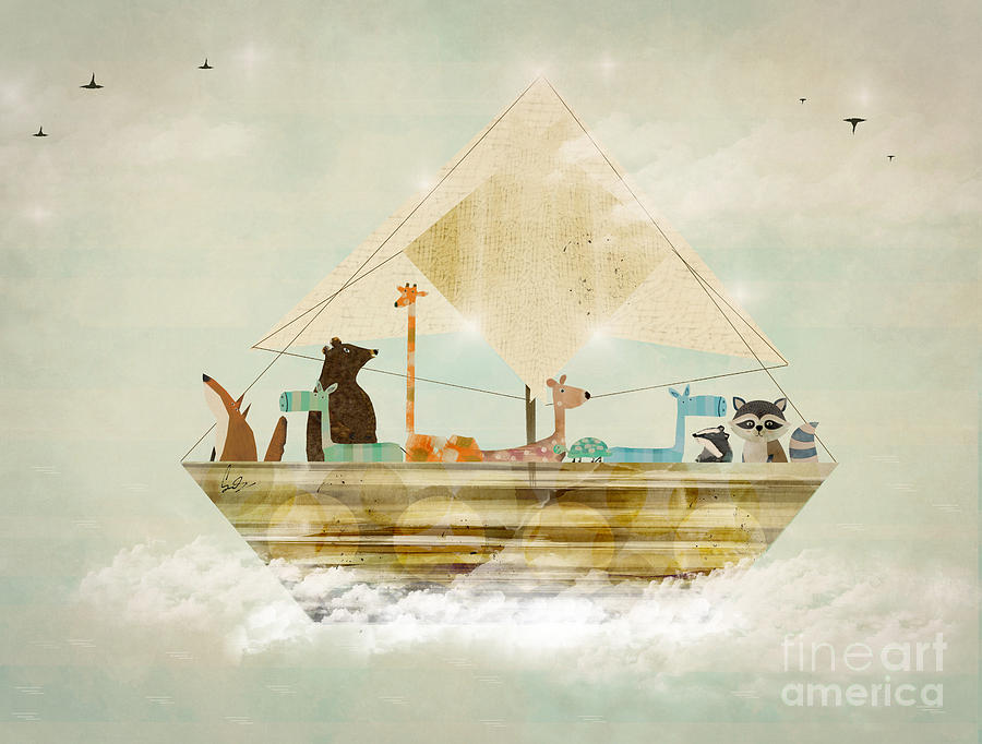 Animals Painting - Sky Sailers by Bri Buckley