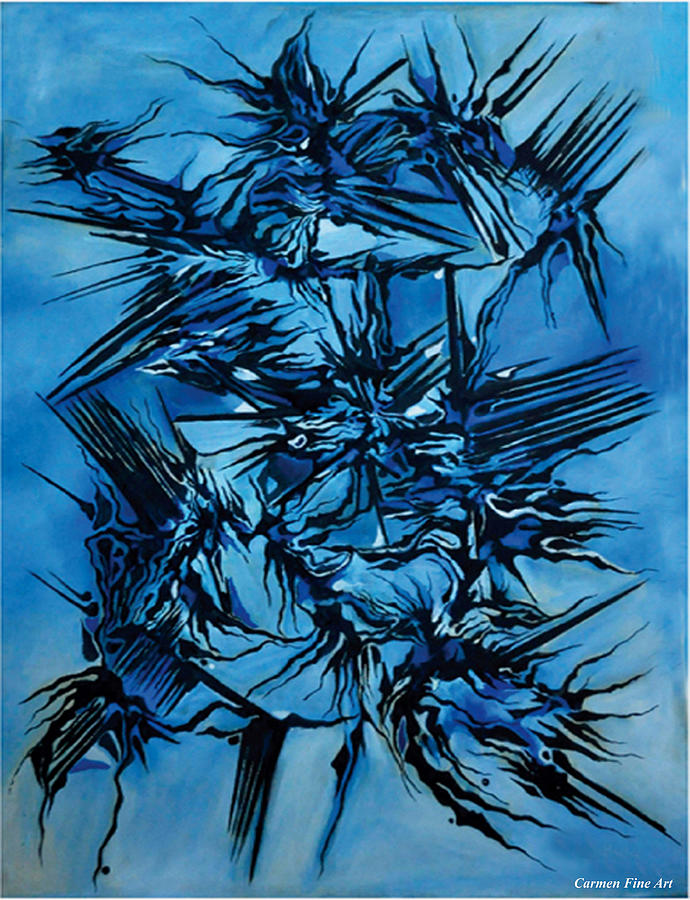 Blue Painting - Sky vs Philosophy by Carmen Fine Art