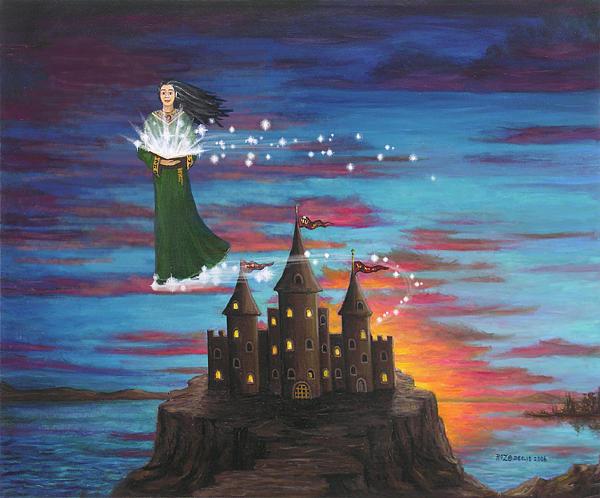Wizard Digital Art - Sky Walker by Roz Eve
