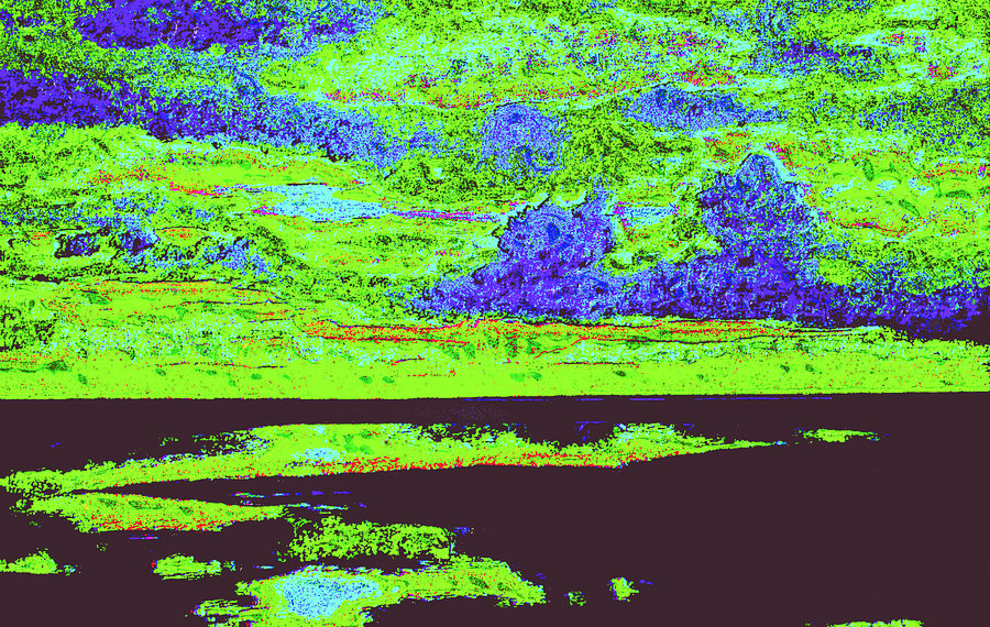 Sky Water D4 Digital Art by Modified Image