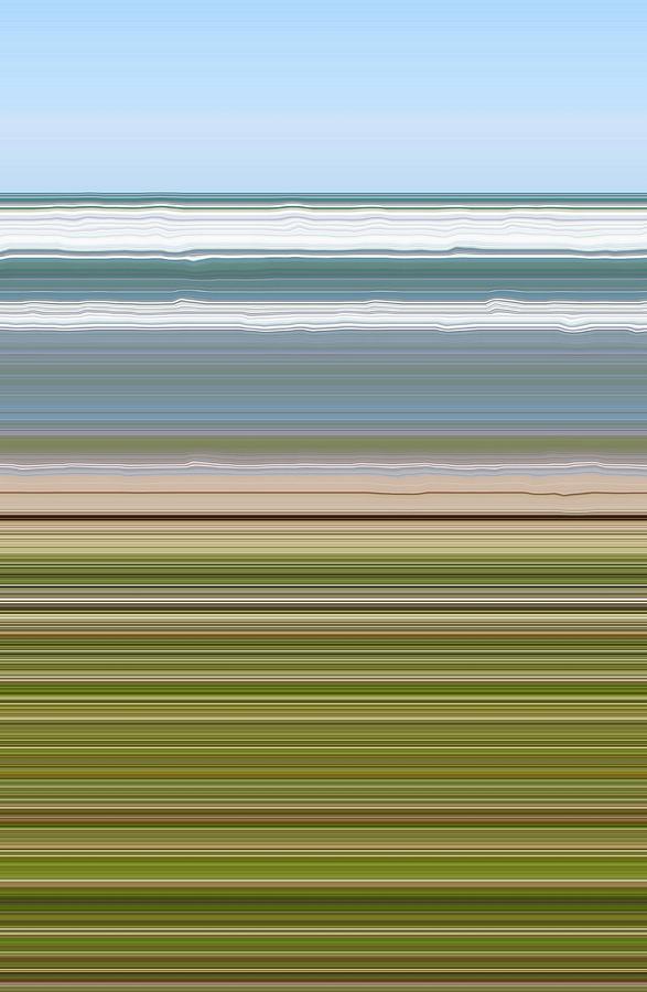 Lavender Digital Art - Sky Water Earth Grass by Michelle Calkins