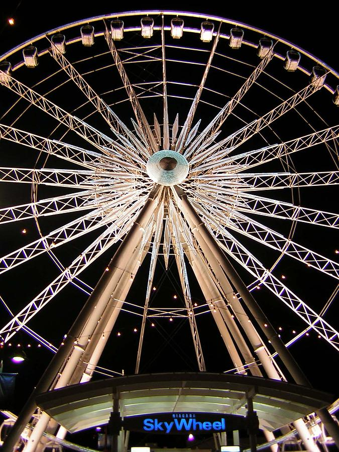 Sky Wheel Photograph - Sky Wheel by Heather Weikel