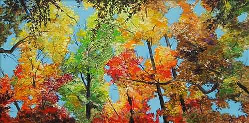 Fall Painting - Skygasm by Denise Ivey Telep