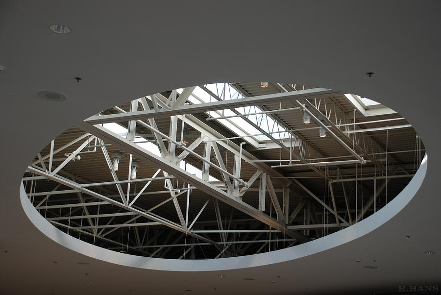 Ceiling Photograph - Skylight Gurders by Rob Hans