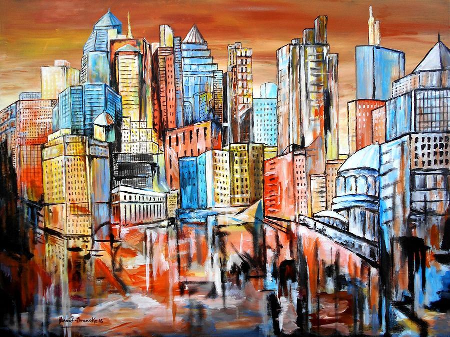 Skyline Painting - Skyline by Eberhard Schmidt-Dranske
