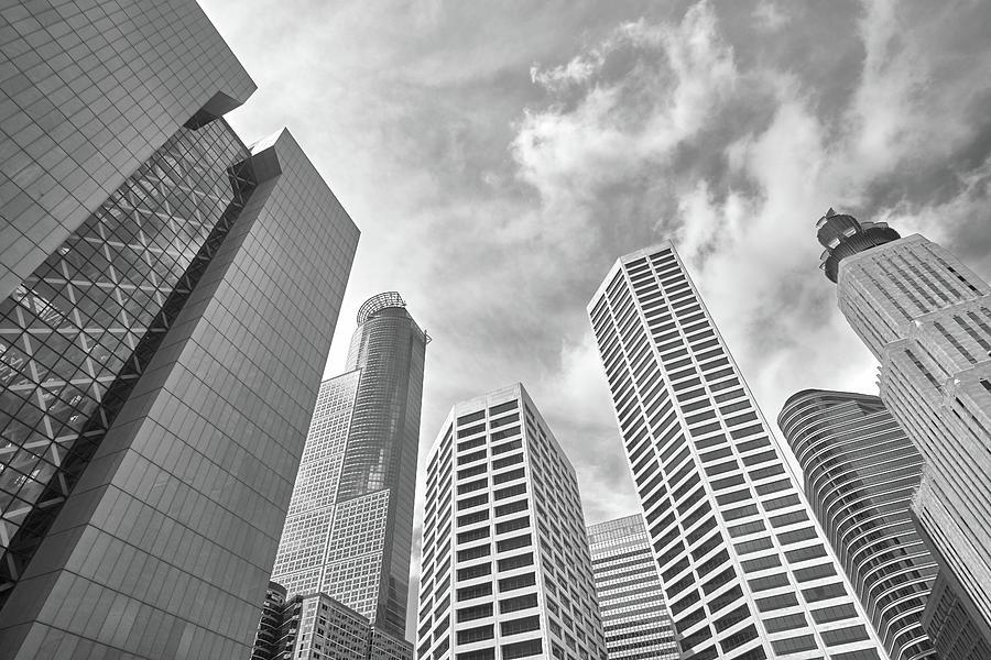 Hennepin Photograph - Skyline In Minneapolis, Minnesota by Jim Hughes