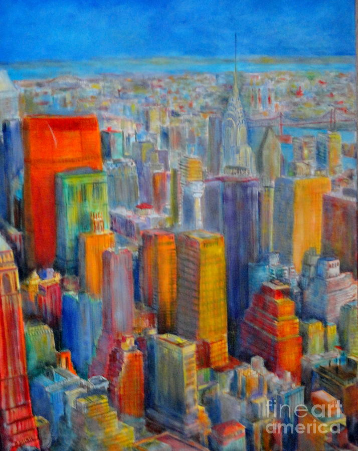 SKYLINE NEW YORK by Dagmar Helbig