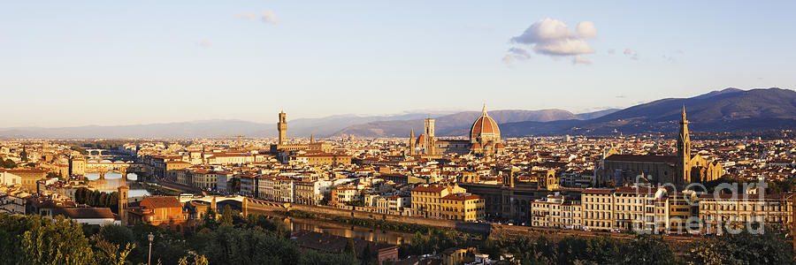 Apartment Photograph - Skyline Of Florence From The Piazza Michelangelo At Dawn by Jeremy Woodhouse