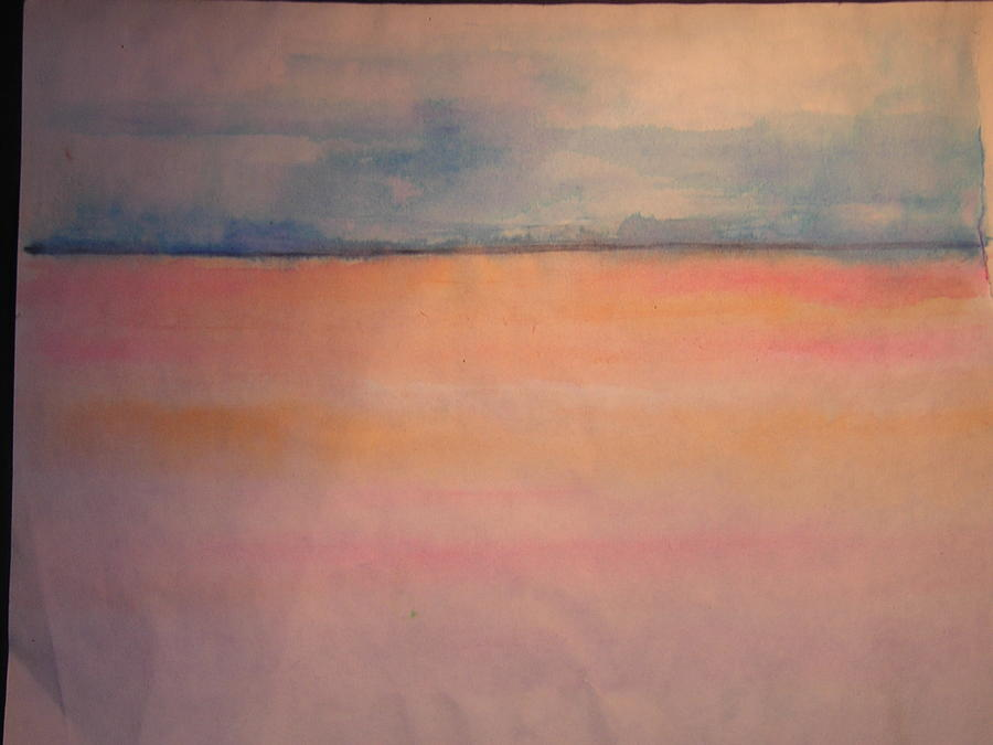 Sea And Sky Drawing - Skyline by Troix Johnson