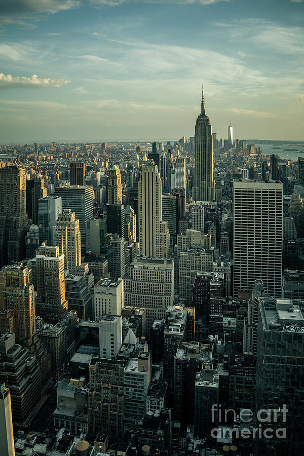 Skyline with Empire State Building by Franz Zarda
