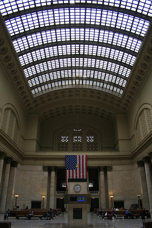 Chicago Union Station Photograph - Skylit Chicago Union Station  by Christopher Kirby