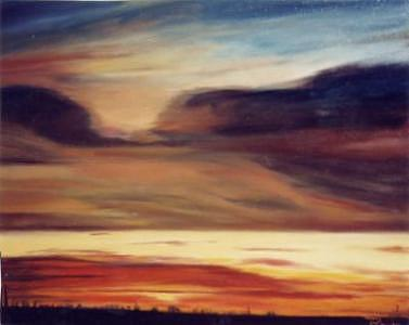 Sky Painting - Skyscape by Parvin Shere