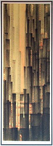 Skyscrapers Painting by Richard Aberle Florsheim