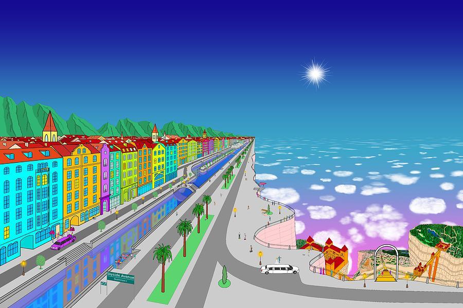 City Digital Art - Skyside Avenue by Mikhail Buzhinskiy