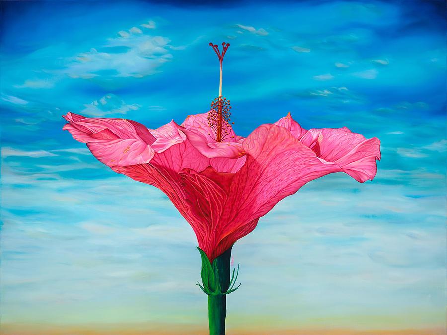 Hibiscus Painting - Skyward by Kerri Meehan