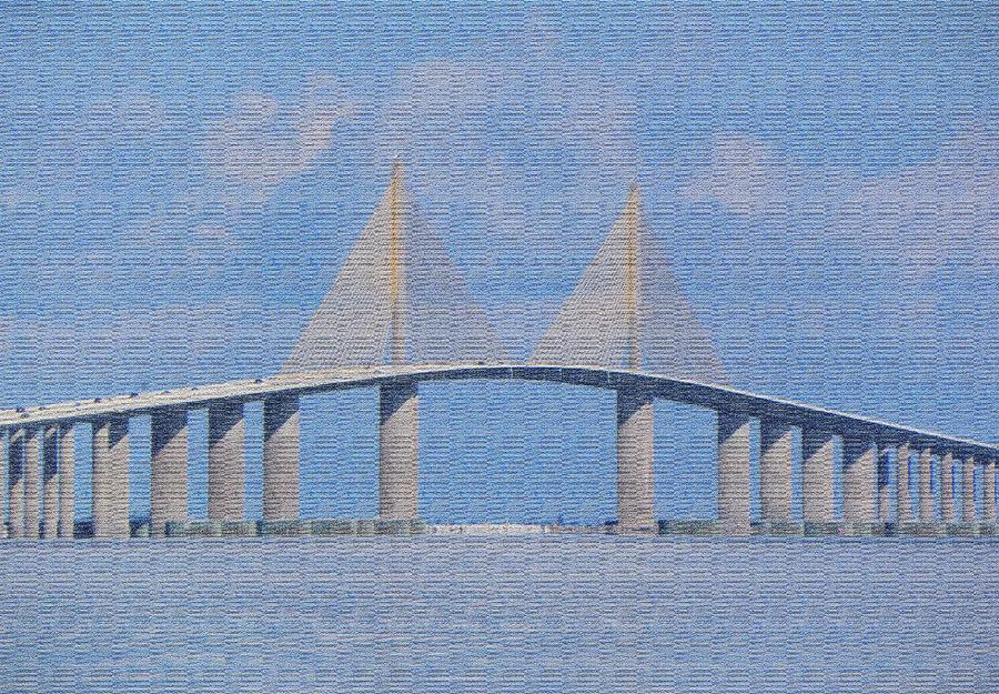 Bridge Photograph - Skyway Bridge by Rosalie Scanlon