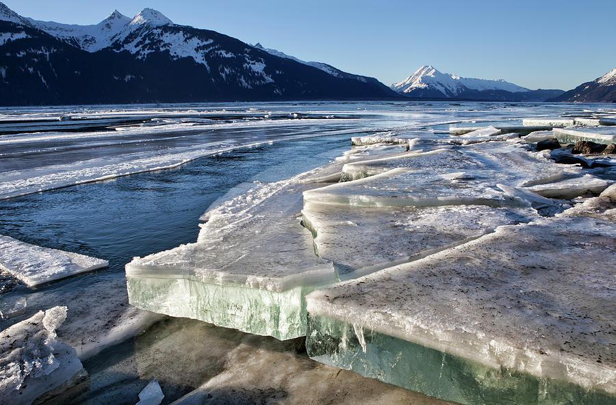 Alaska Photograph - Slabs Of Ice by Michele Cornelius