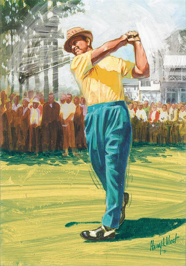 Sam Snead Painting - Slamn Sammy by Harry West