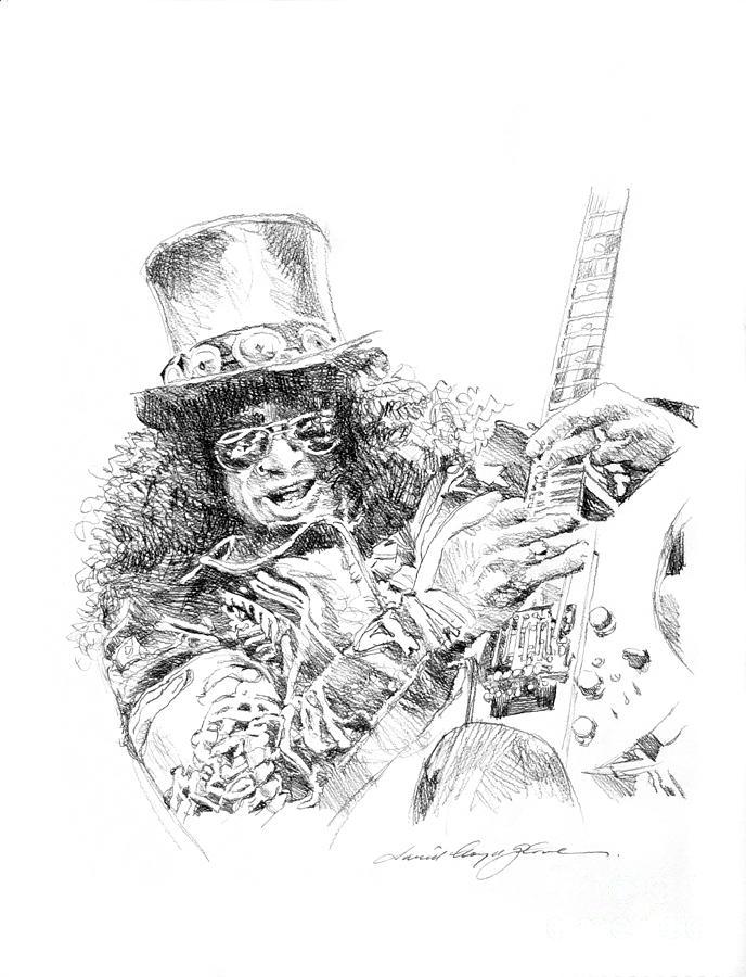 Slash Drawing - Slash by David Lloyd Glover
