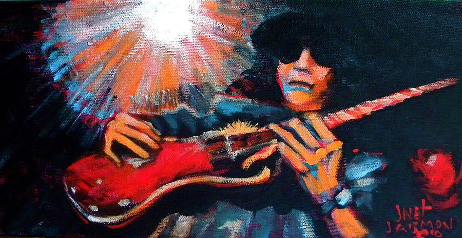 Musician Painting - Slash by Jeanette Jarmon