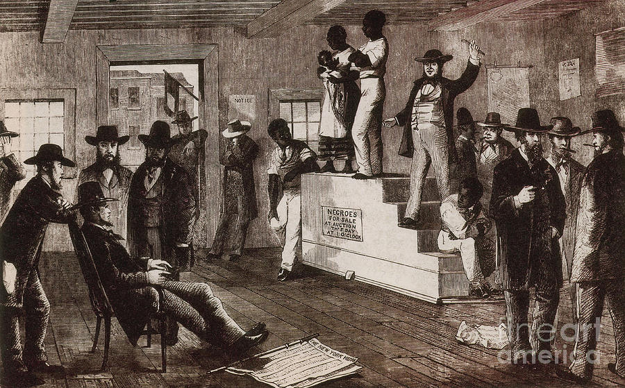 History Photograph - Slave Auction In Virginia by Photo Researchers